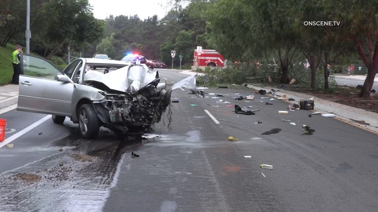 Toyota Camry wreckage