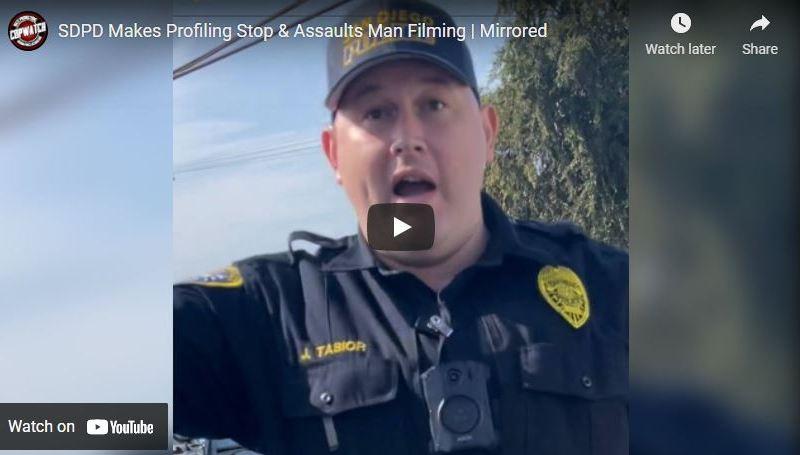 Beginning of traffic stop video