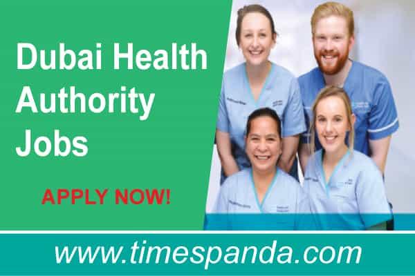 Dubai Health Authority Jobs