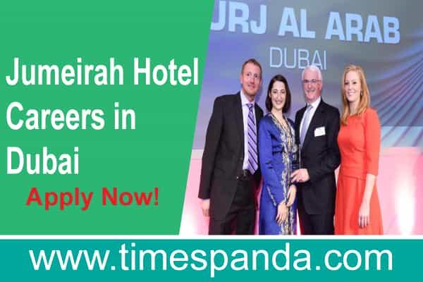 Jumeirah Hotel Careers in Dubai