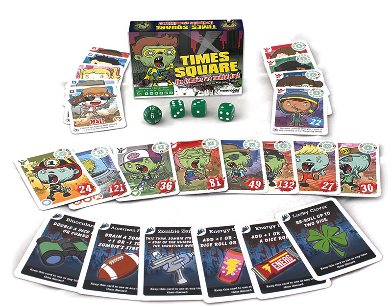 Times Square maths game box and contents