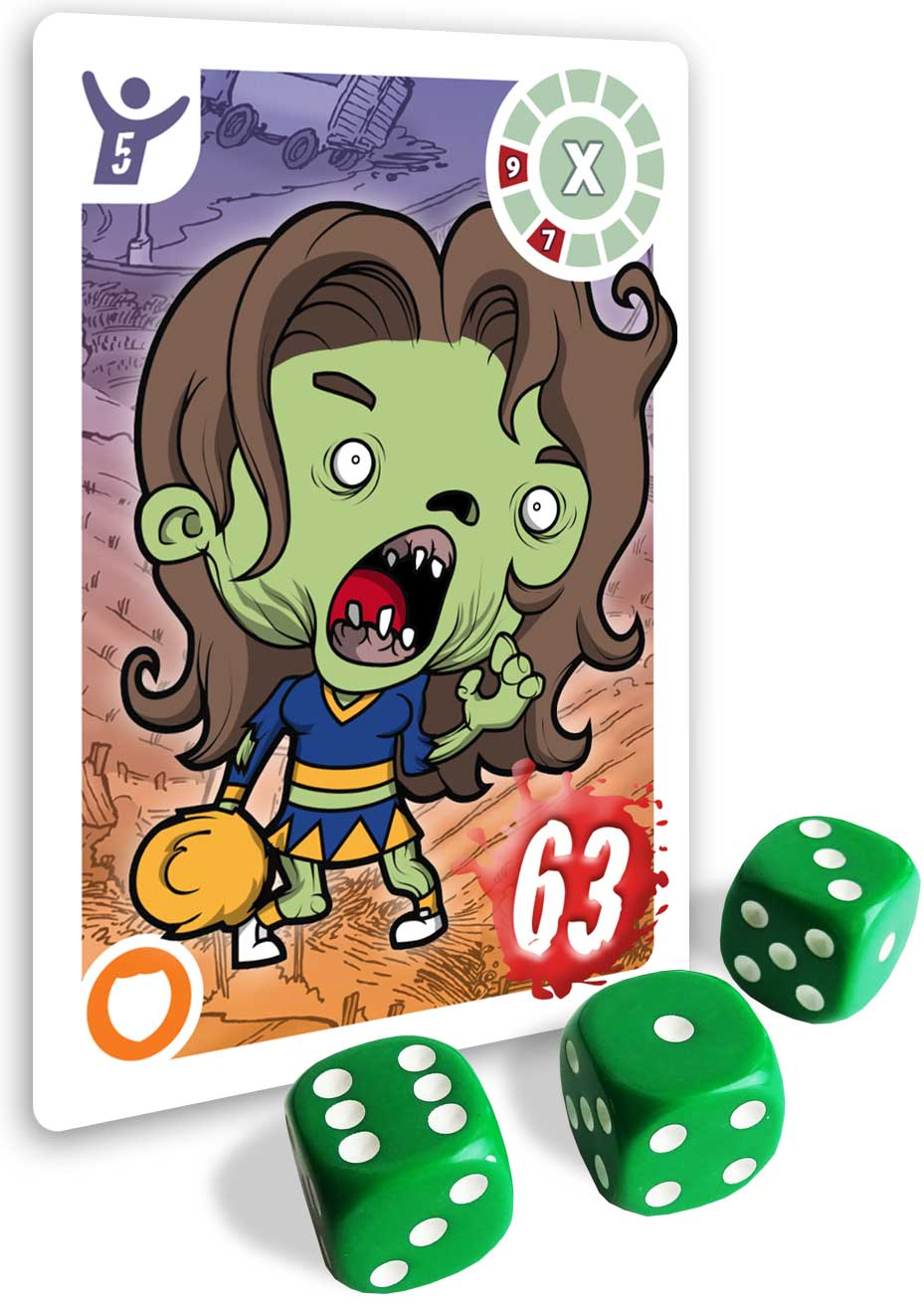 A 63 strength Zombie and some dice