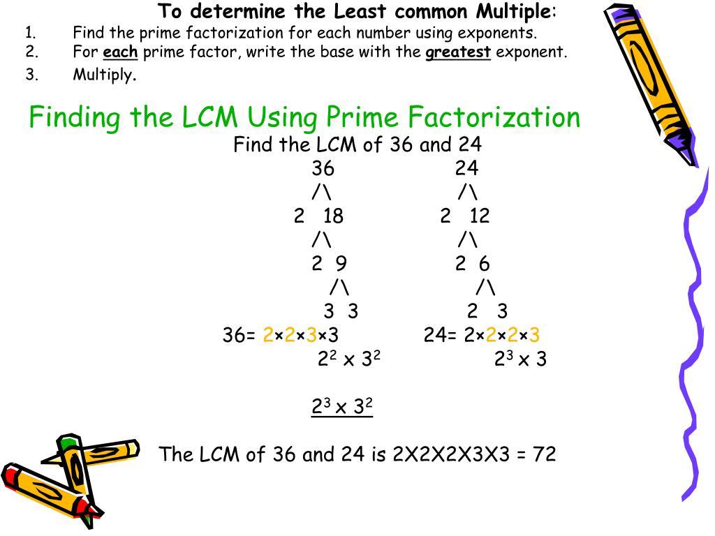 Super Teacher Worksheets Least Common Multiples