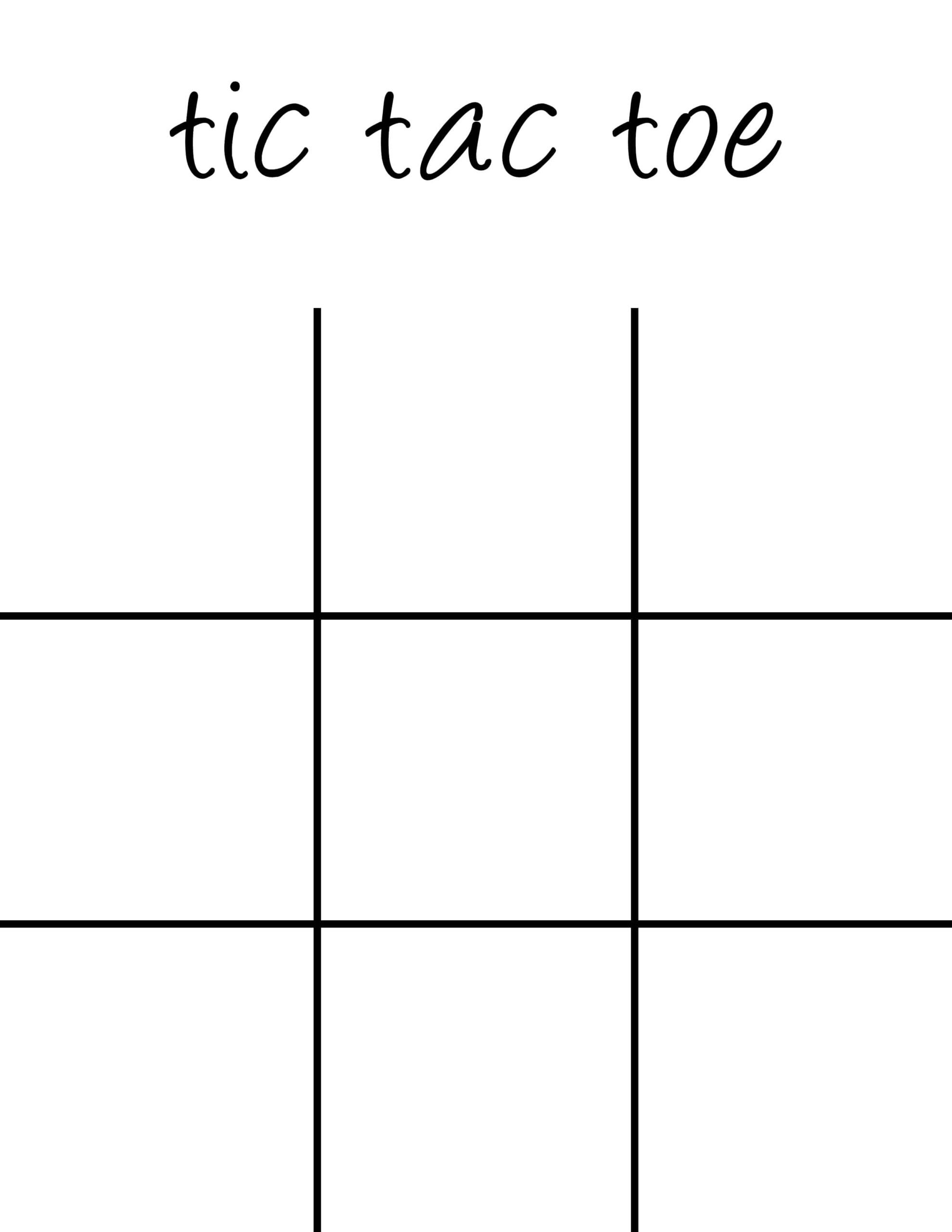 Multiplication Tic Tac Toe Worksheets