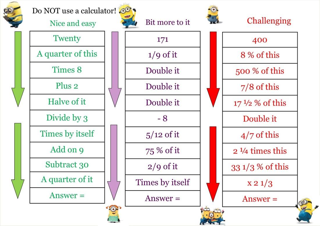 Multiplication Warm Up Worksheets