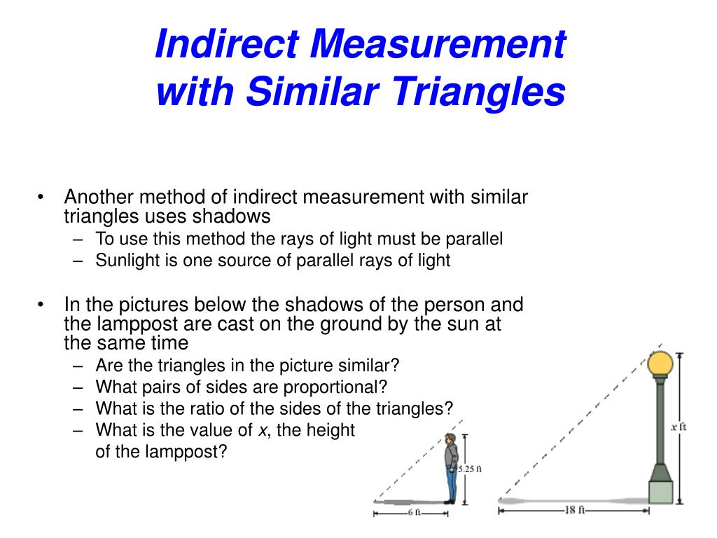 Worksheet On Similar Figures And Indirect Measurement With