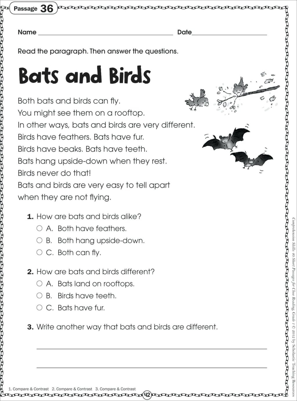 Third Grade 3rd Grade Reading Comprehension Worksheets