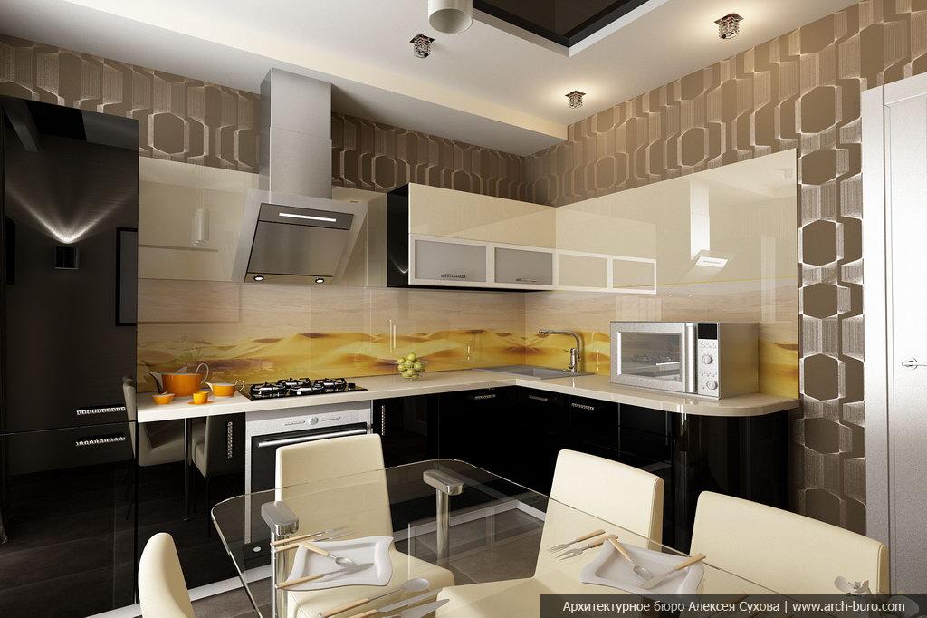 ремонт кухни дизайн фото реальные 7