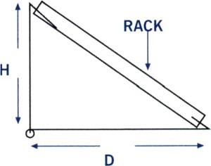 Desk Mount Badge Rack Measurements