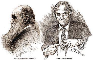 Darwin, grumpy, and Dawkins...knitting?