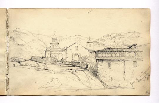 Eglise de San Francisco, Valparaiso Chile, Conrad Martens, 1834