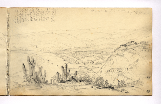 View of Valparaiso from the Bluffs, Conrad Martens, 1833