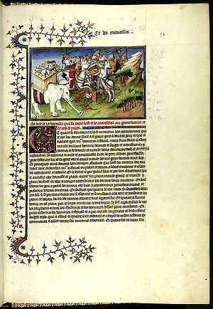 Travels of Marco Polo, manuscript page, 1298