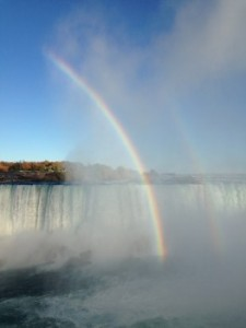 Rainbow over Niagra Falls