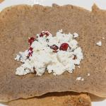 Buckwheat crepes with cream cheese filling