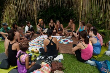Vasumi teaching at Bali Spirit Festival