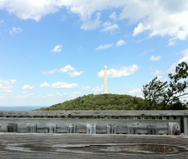 Shot of the obelisk at the top of High Point State Park.