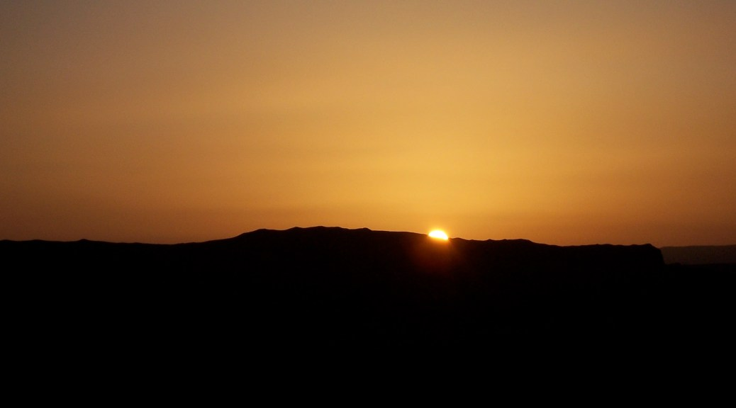 Sunset in the Negev