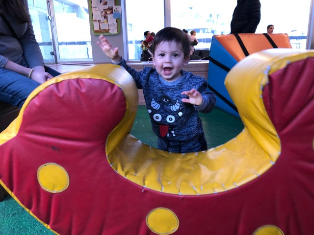 Jacob having fun at the mall!