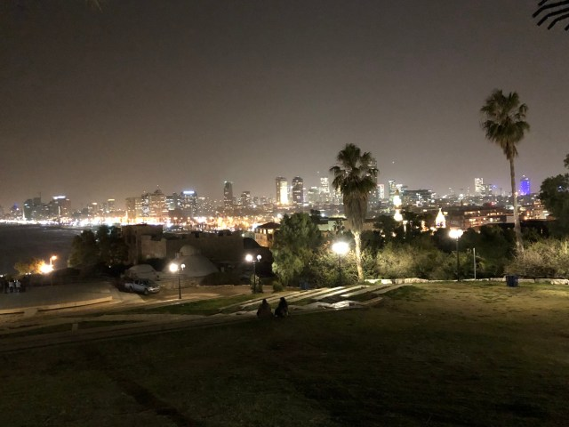 Tel Aviv at night.
