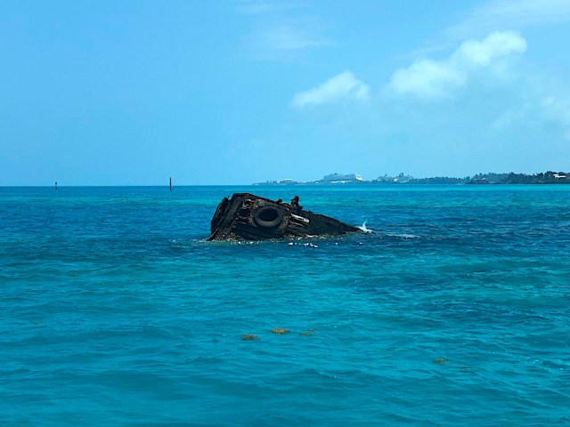 The HMS Vixen was intentionally sunk off the coast of Bermuda...because it was a terrible ship apparently. Now, in it's most productive form, it's a reef.