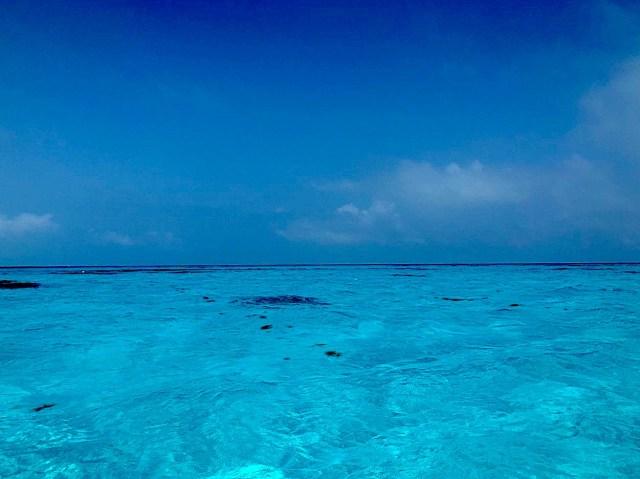 The Blue Hole off the coast of Bermuda.
