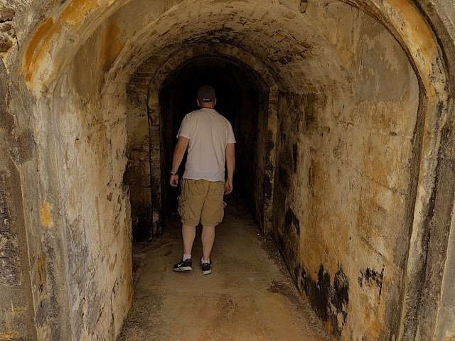 A dungeon area at the Royal Naval Dockyard in Bermuda.