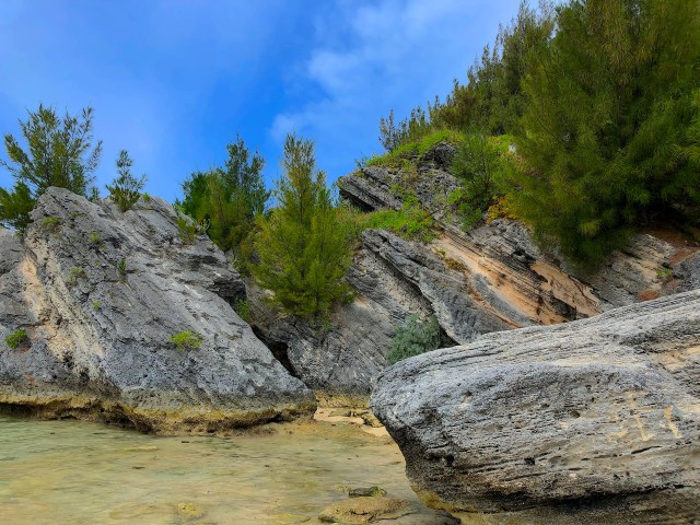Cool rock formation at Horseshoe Bay.