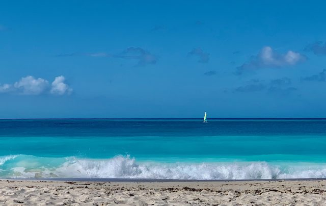 Grace Bay with multiple shades of blue