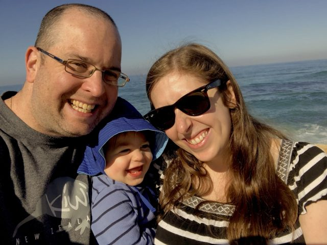 Ariel, Jacob and I at the beach in Tel Aviv.