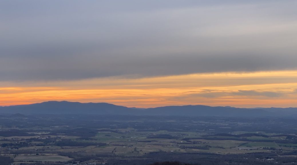 An overlook at Shenandoah Valley National Park