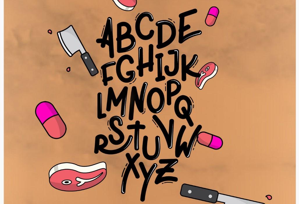 Белгілеуді дамыту үшін түпнұсқа кальвин шрифті