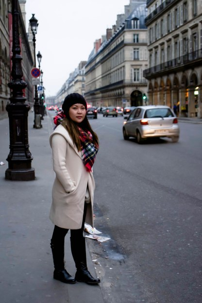 Old Navy Scarf, Fifth Saks Ave white coat