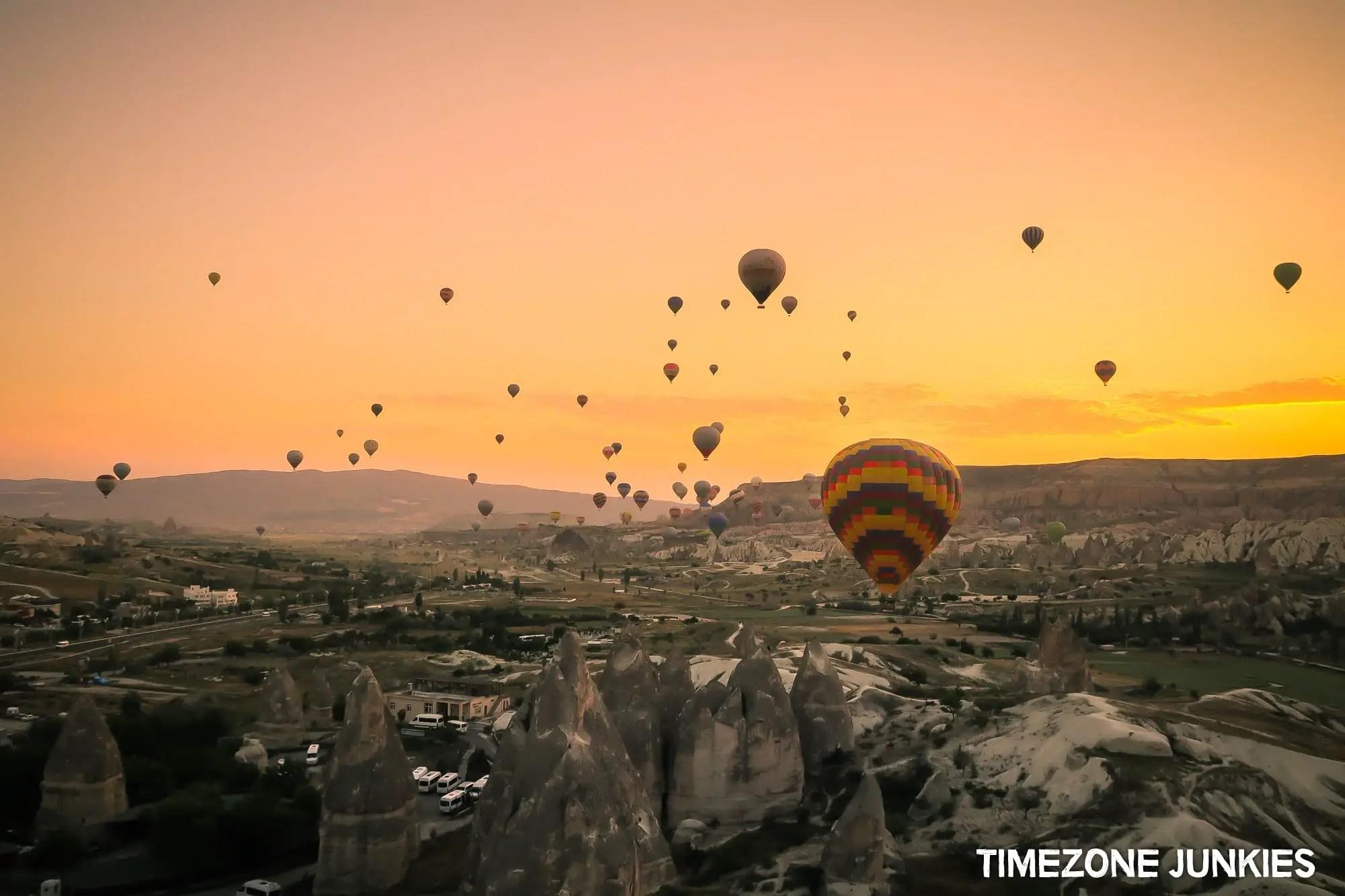 Visiting Cappadocia Hot air balloons sunrise Cappadocia Turkey