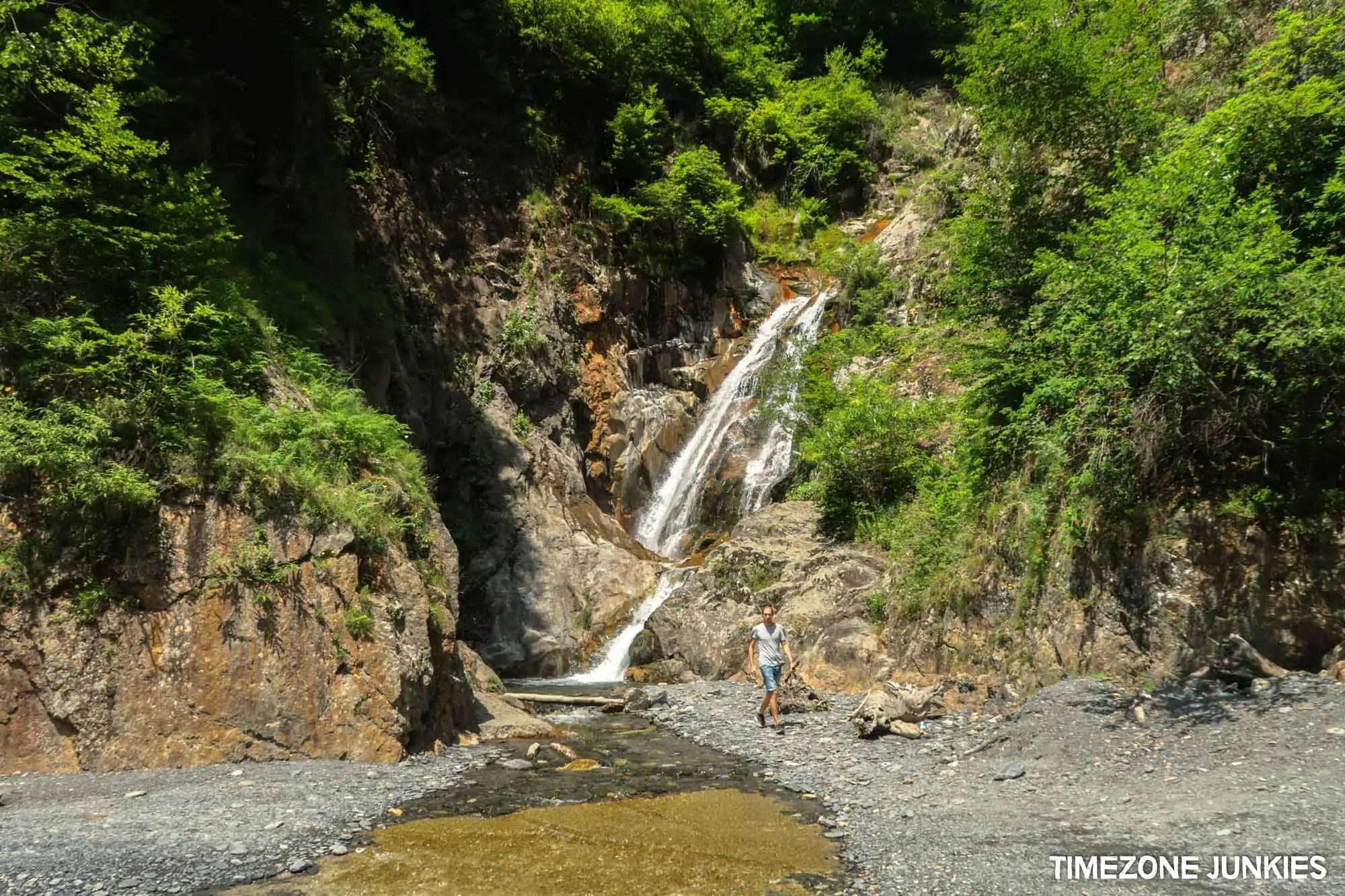 Tusheti road Waterfall Omalo road