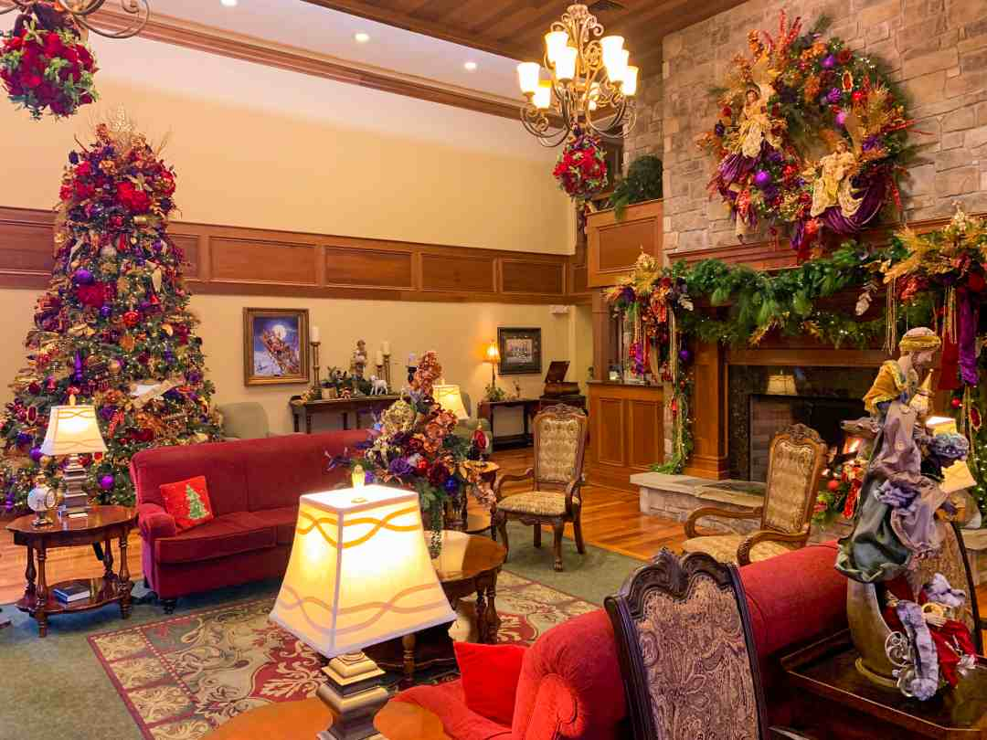 Lobby of The Inn at Christmas Place