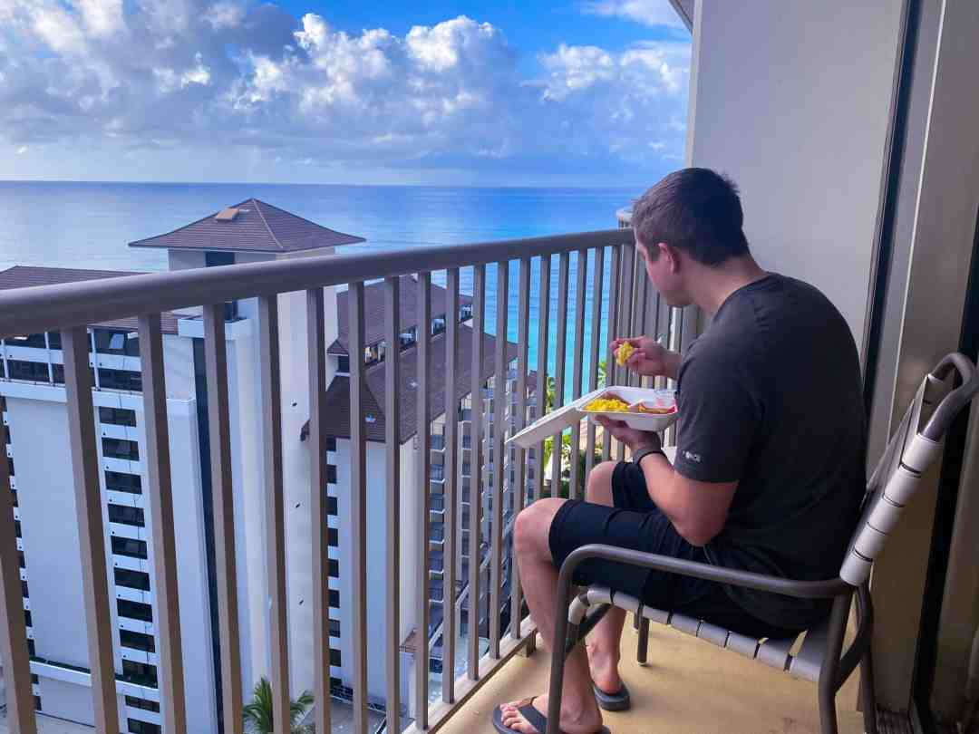 Embassy Suites Waikiki breakfast with a view