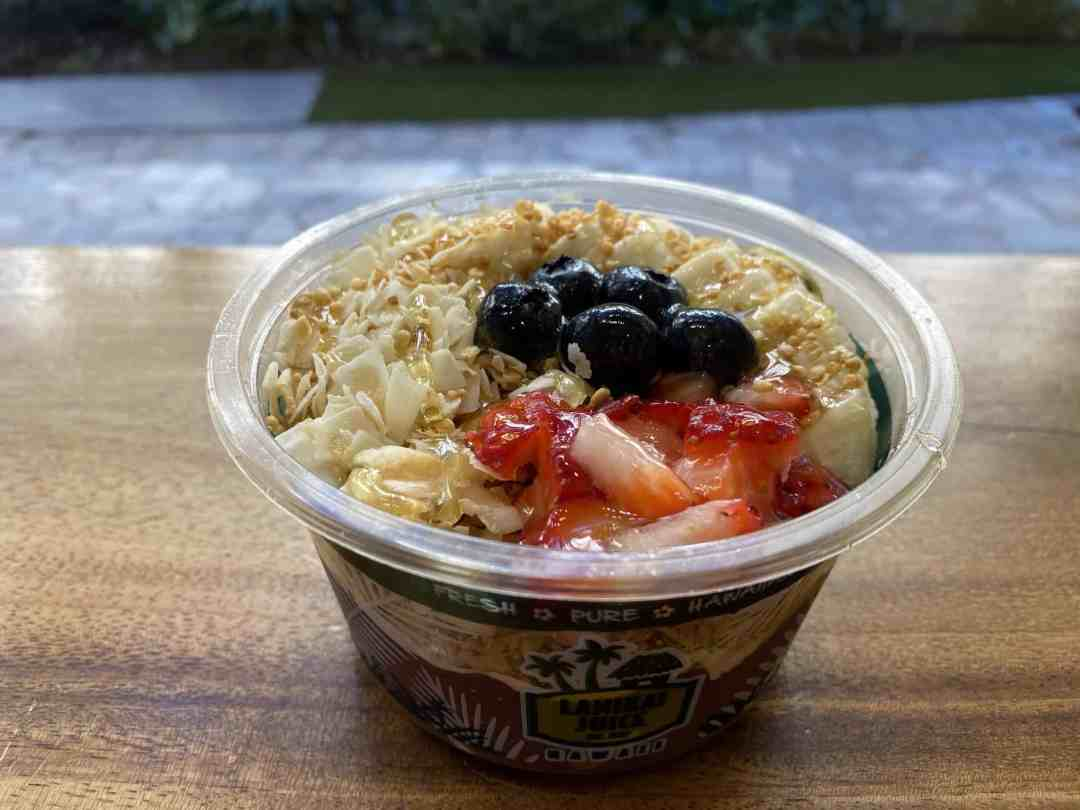 Açai bowl with coconut blueberries and fruit