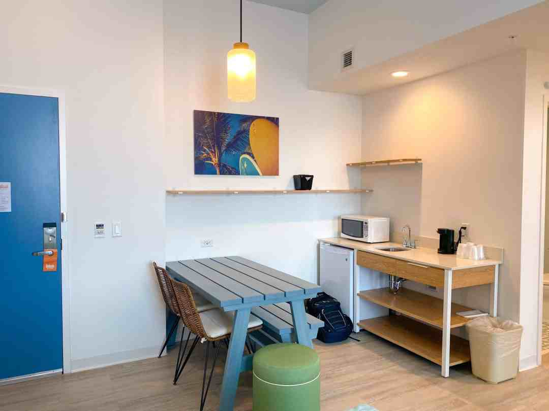 Endless Summer resort kitchenette and dining
