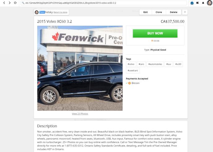 2015 Volvo XC60 for sale on Open Bazaar