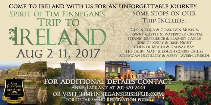 Spirit of Finnegan's Trip to Ireland