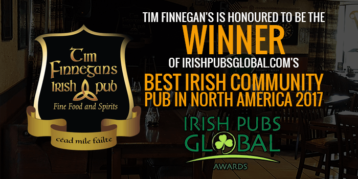 Tim Finnegans Irish Pub Wins Best Irish Pub Community Award