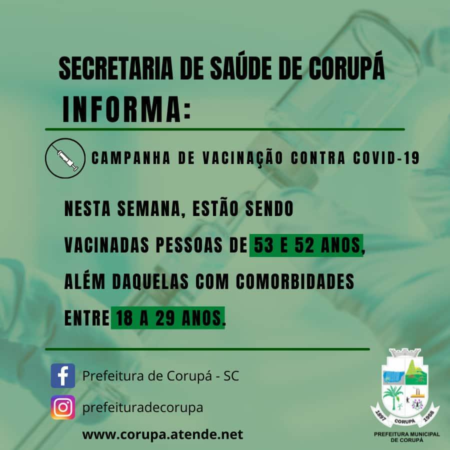 Vacinação Coronavírus - 23 06 21