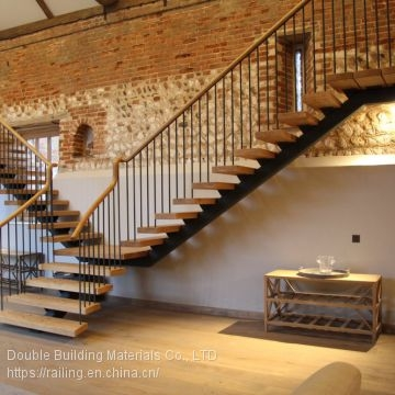 Customized Steel Wood Staircase With Mono Stringer Stairs Of | Wood Stringers For Stairs | Metal | Double Stringer | Stair Tread | Framing Square | Risers