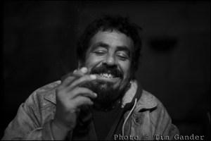 Monochrome portrait photo