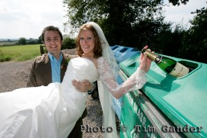 wedding photo for press article