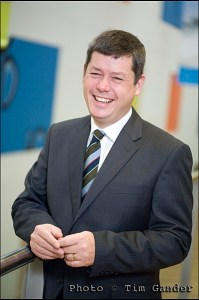 corporate business portrait of a man in a suit