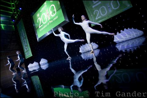 modern dancers ballet on stage