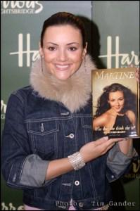 Martine McCutcheon book signing Harrods