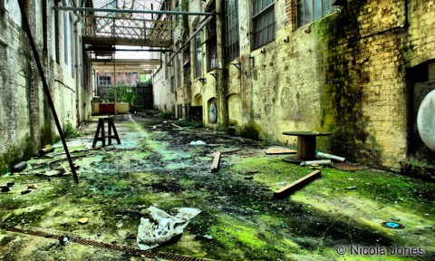 Interior view of derelict building
